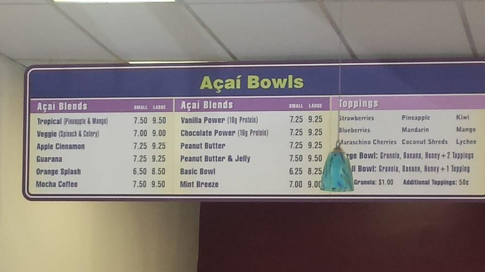 Photo Of Beach Bowls Acai Cafe Redondo Ca United States Menu