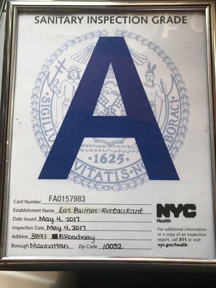 Nyc Restaurant Sanitary Inspection Grade