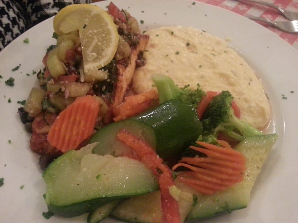 Italian salmon with veggies and polenta yelp for Food bar petaluma