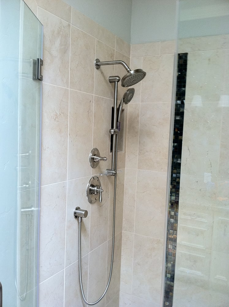 Seperate shower head and slide bar - Yelp