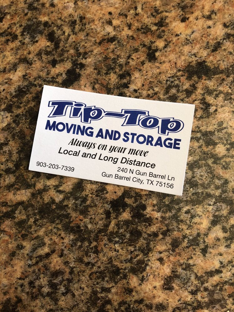 TipTop Moving and Storage: 147 B Dunaway dr, Gun Barrel City, TX