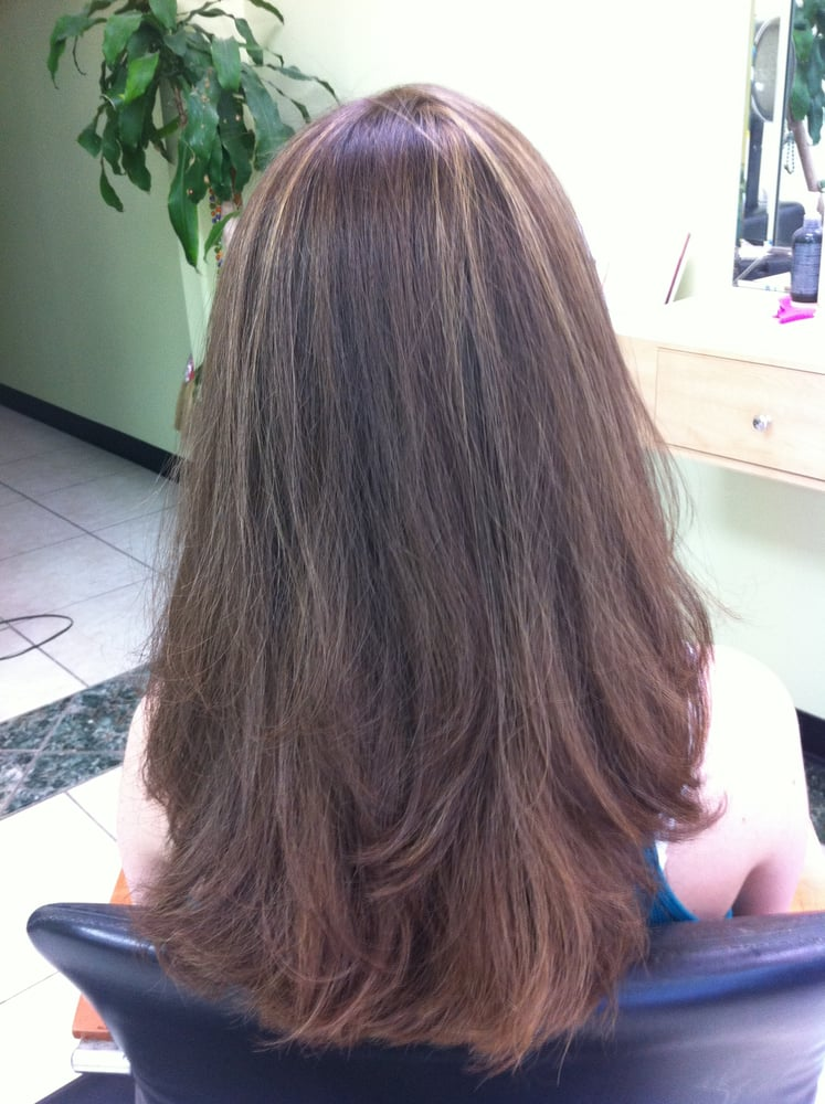 Subtle Sunkissed Highlights On Naturally Light Ash Brown Hair The