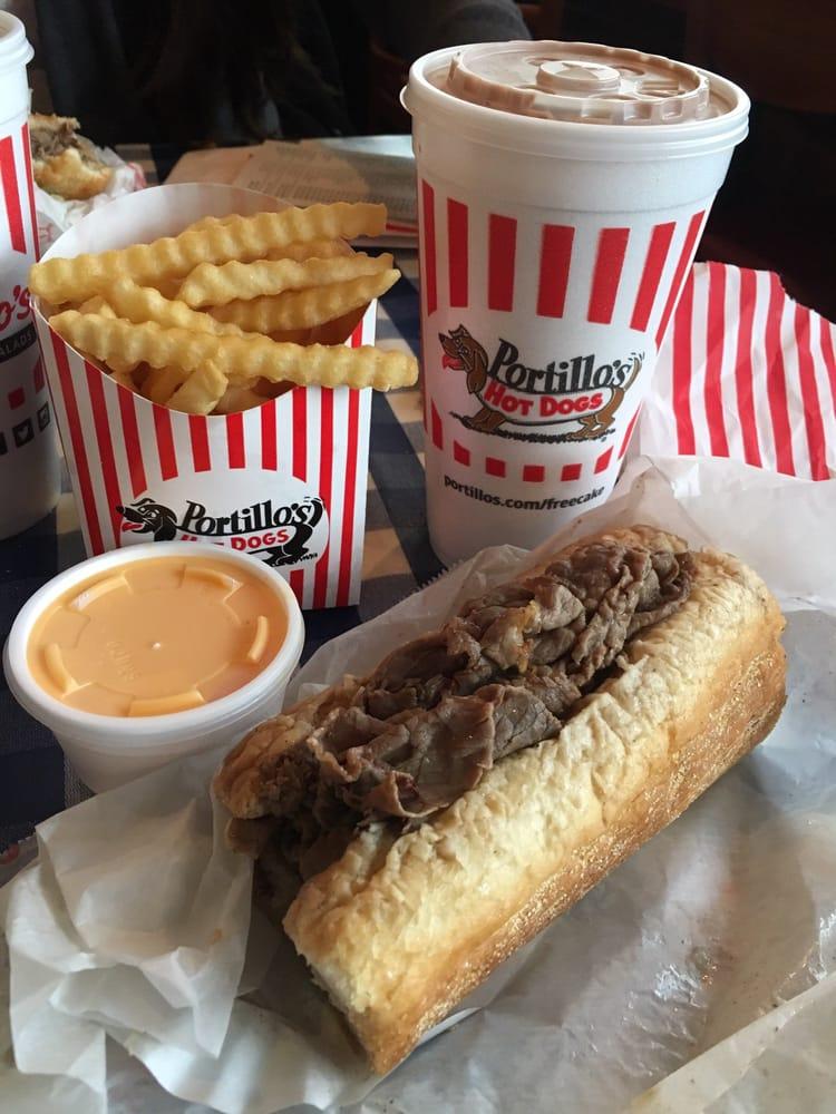 Photo Of Portillo S Hot Dogs Chicago Il United States Italian Beef Sandwich