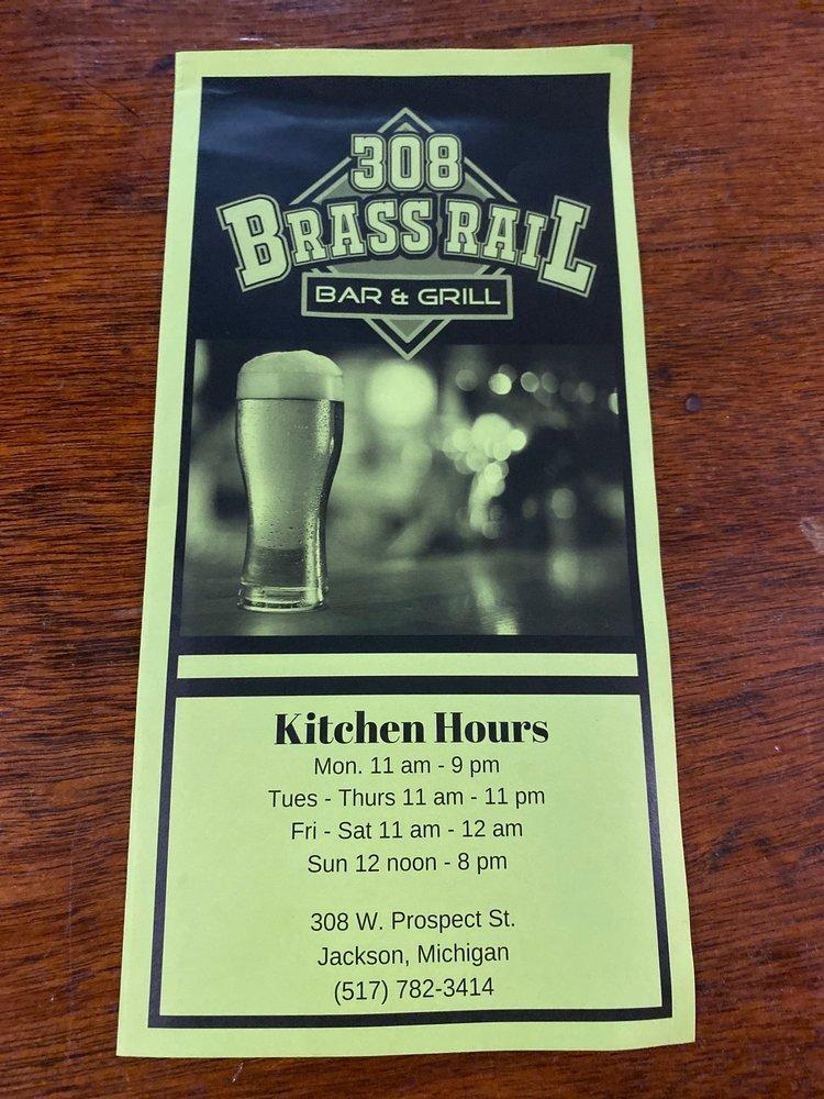 308 Brassrail Bar & Grill: 308 W Prospect St, Jackson, MI