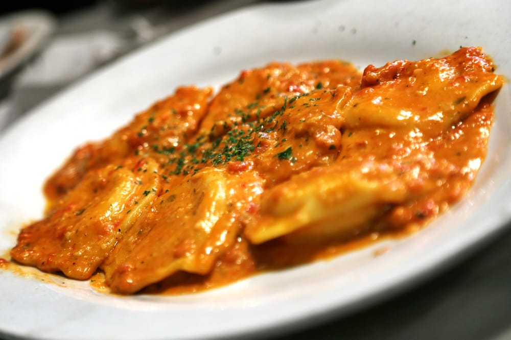 Lobster Ravioli... The ravioli and the sauce were actually very good... - Yelp