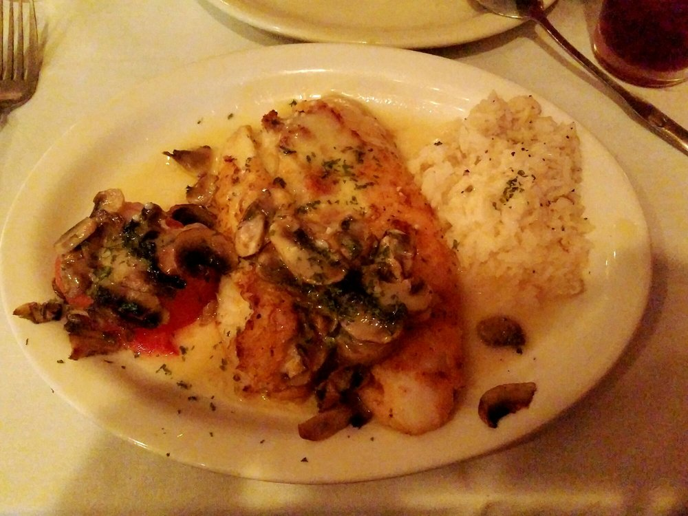 Red Snapper Stuffed With Crab With Mushroom And Garlic