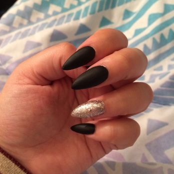 Photo Of Venus Nails University Place Wa United States Black Matte Stiletto