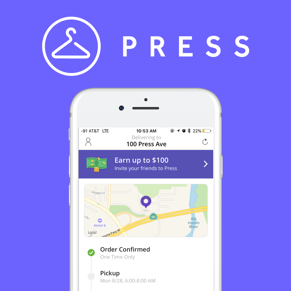 Press - On - Demand Dry Cleaning & Laundry Service