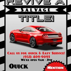 Riverside Auto Salvage >> Quick Auto Tags Departments Of Motor Vehicles 5586 Mission Blvd