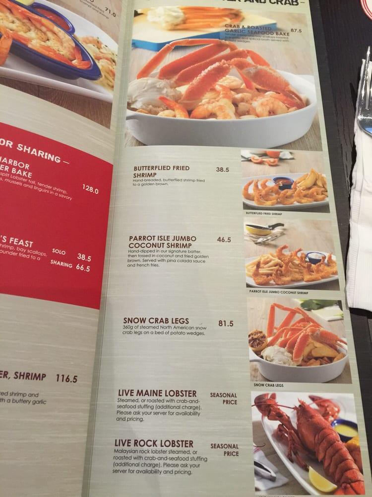 red lobster menu