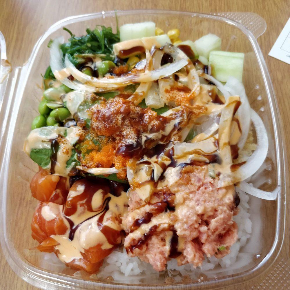 Food from Ahi Hibachi & Poke