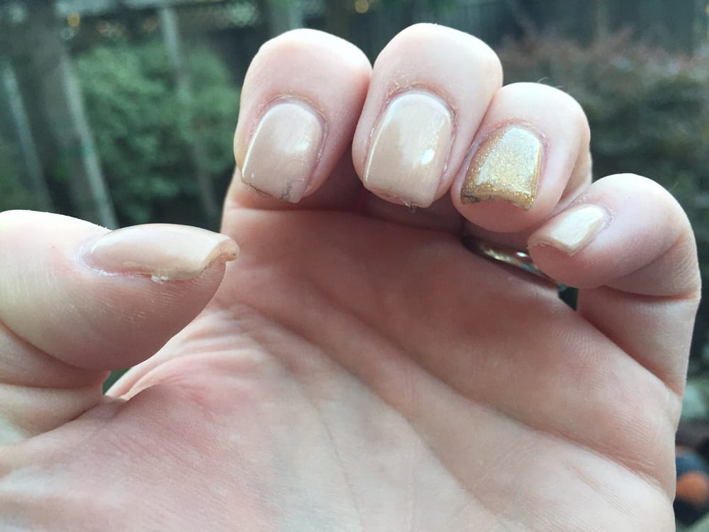 $34 fill with gel overlay. Sticky with cotton fibers stuck to every ...