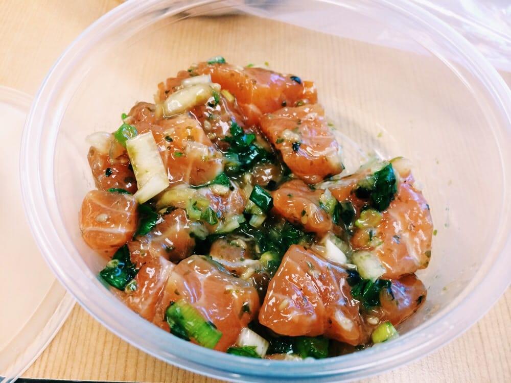 Salmon Poke Good Flavor And Acidity Yelp