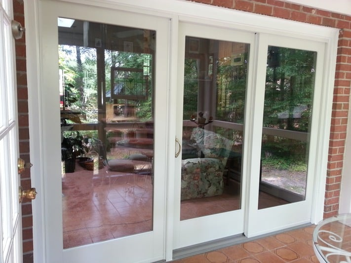 Frenchwood gliding patio door andersen 400 series for Andersen french doors