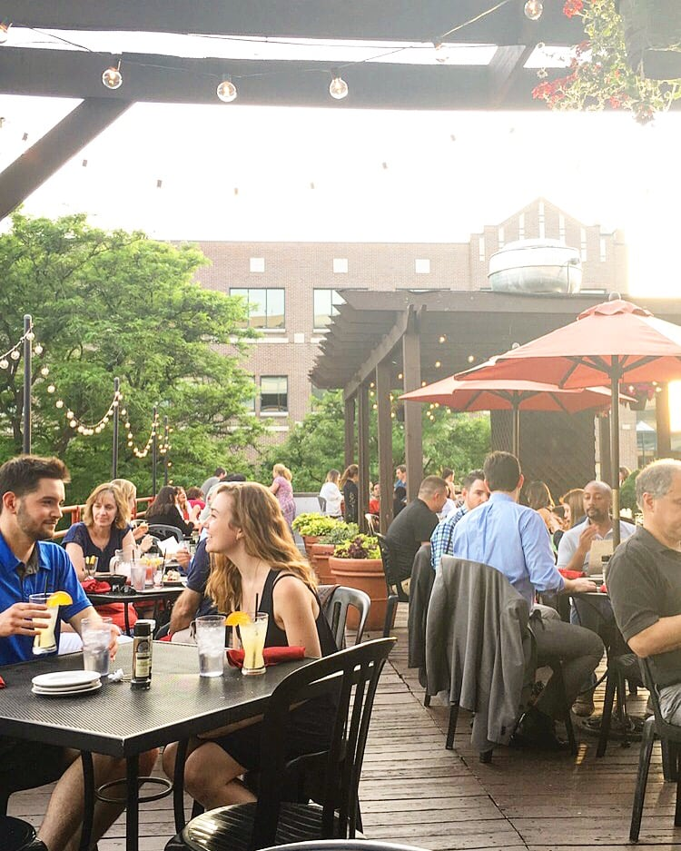 This Rooftop Destination Is One Of The Largest Outdoor Dining Spots In Ann Arbor Menu At Palio Del Sole Features Options Like Flat Breads And Pastas
