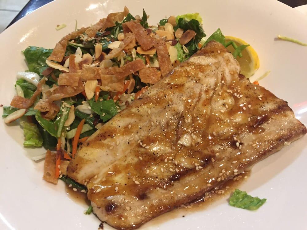 Asian salad with mahi mahi with orange teriyaki sauce yelp for Bluesalt fish grill