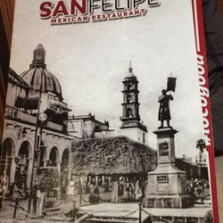 San Felipe Mexican Restaurant Menu
