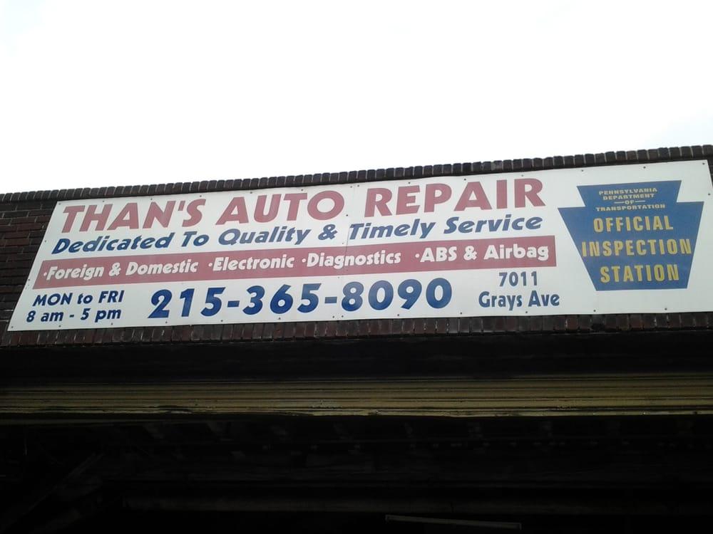Than's Auto Body Shop: 7011 Grays Ave, Philadelphia, PA