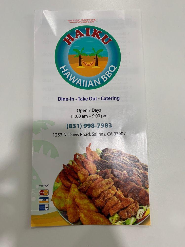 Haiku Hawaiian BBQ: 1253 N Davis Rd, Salinas, CA