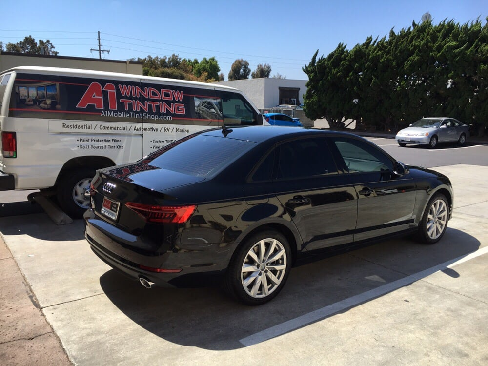 2017 audi a4 with our carbon ceramic 5 on the rear for 2 5 window tint
