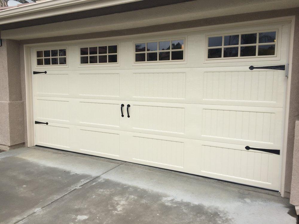 almond garage doorUnique Garage Door carriage House in design polyback insulated