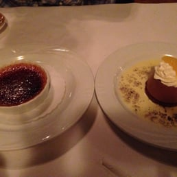 Quinta Steakhouse - Pearl River, NY, United States. Creme brûlée and chocolate mousse.