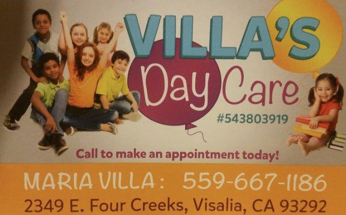 Villa's Daycare: 2349 E Four Creeks Court, Visalia, CA