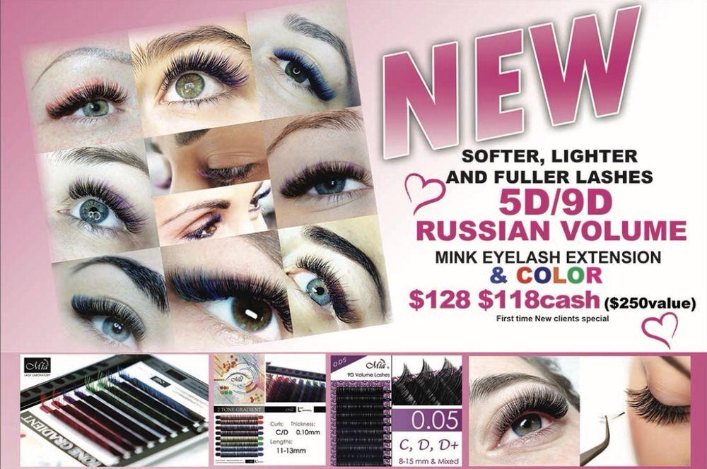 1448be84399 5D/9D Russian volume mink eyelash extensions &Color set $128 $118 ...