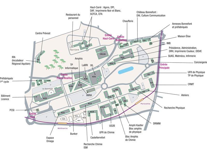 Carte Universite De Bordeaux.Plan De L Universite De Bordeaux 1 Universite De Bordeaux Yelp