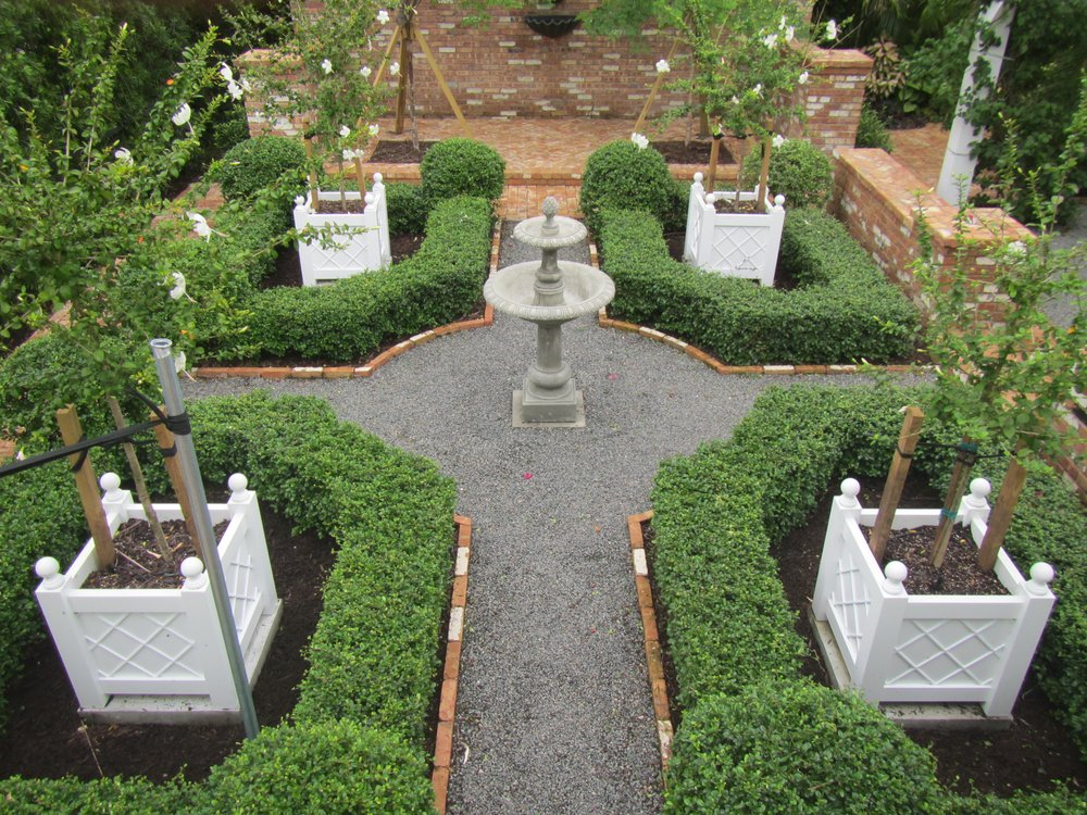 Courtyard Garden South Florida Landscape Design Matthew Giampietro Interesting Florida Garden Design