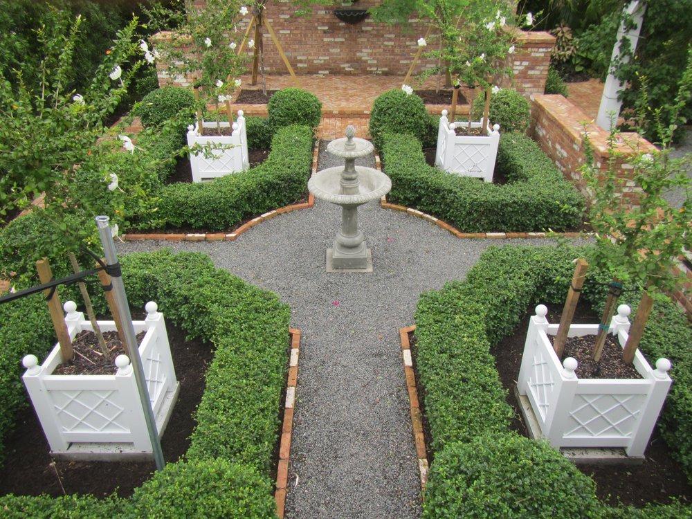 Courtyard Garden South Florida Landscape Design Matthew Giampietro Interesting Florida Garden Design