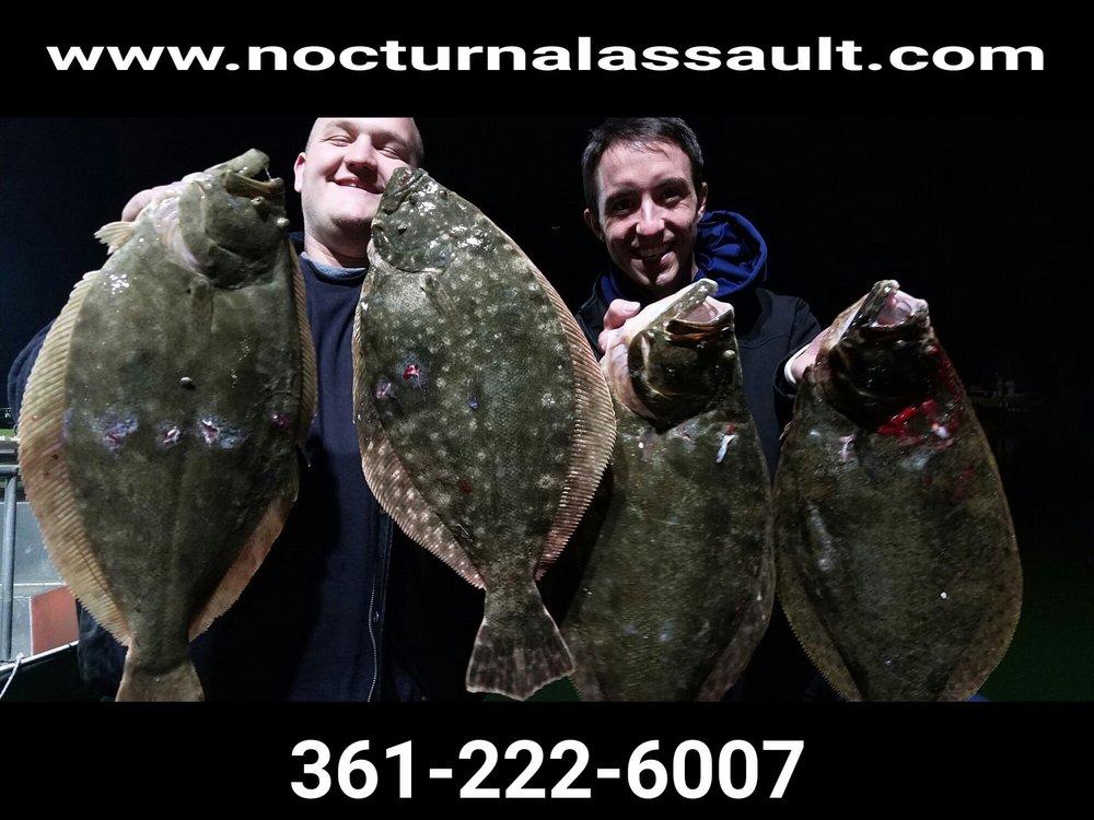 Nocturnal Assault Flounder Charters: 252 N Rife St, Aransas Pass, TX
