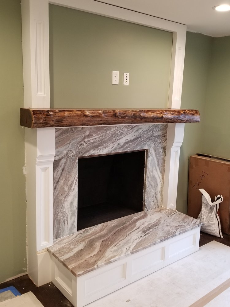 Brown Fantasy Leathered Granite Fireplace Surround And Hearth Yelp