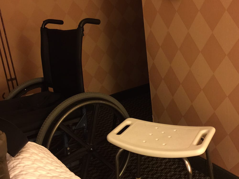 Shower bench comparison to a standard adult wheelchair. - Yelp