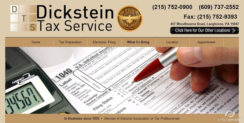 Dickstein Tax Service: 668 Woodbourne Rd, Langhorne, PA