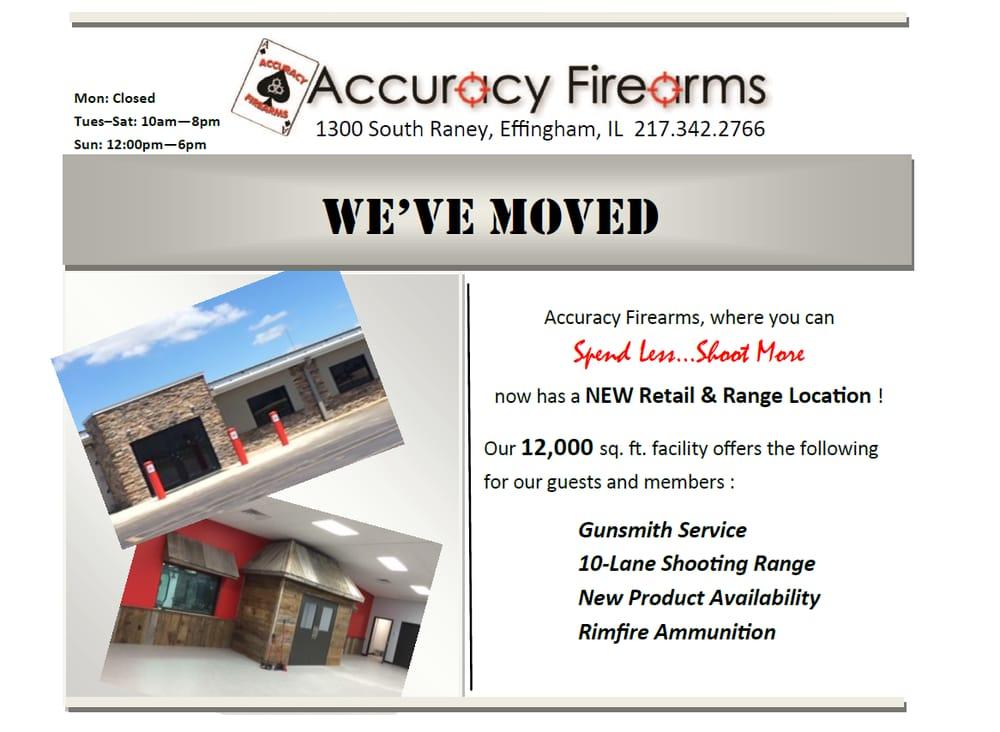 Accuracy Firearms: 1300 S Raney, Effingham, IL