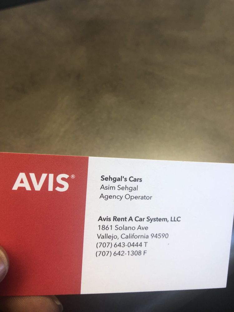 Avis Rent A Car: 1861 Solano Ave, Vallejo, CA