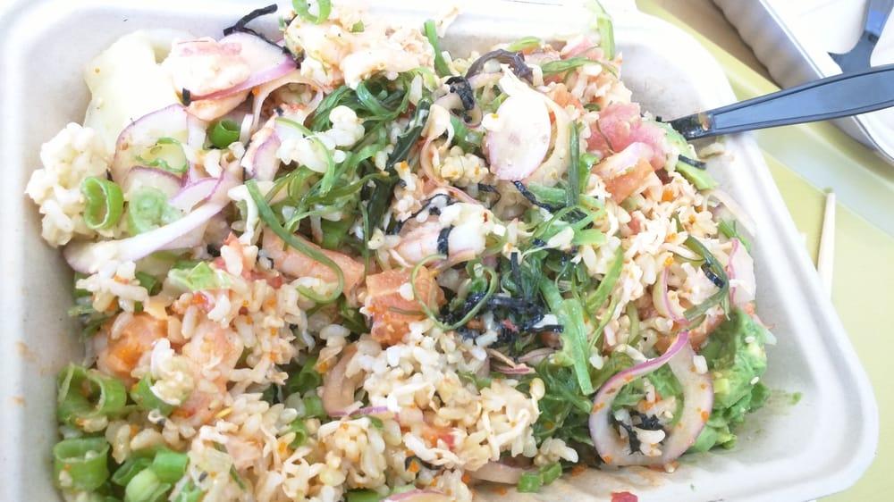 Regular bowl 3 scoops (brown rice, seasoned seaweed ...