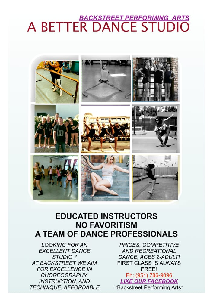 Backstreet Performing Arts Dance Studio: 3478 University Ave, Riverside, CA