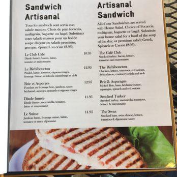 Cafe Archibald Moncton Nb Menu