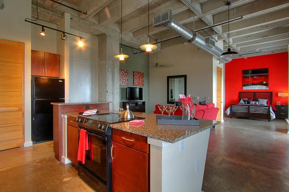 . These loft style apartments are modern showpieces  featuring