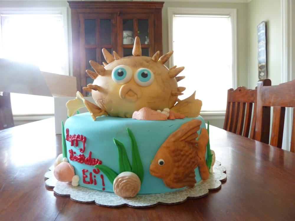 Puffer Fish Birthday Cake Dairy Free And Delicious Yelp