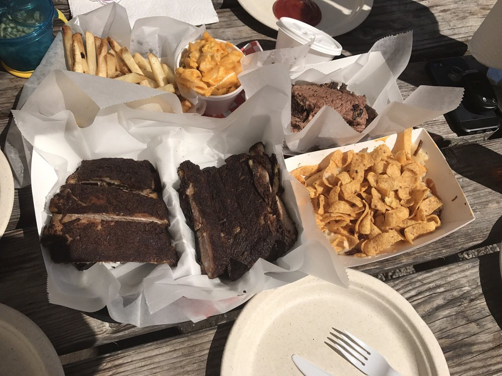 Food from Round Up TX BBQ