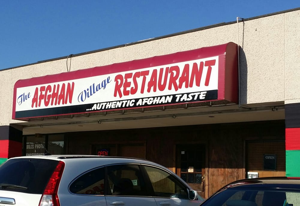 External signage yelp for Afghan cuisine houston tx