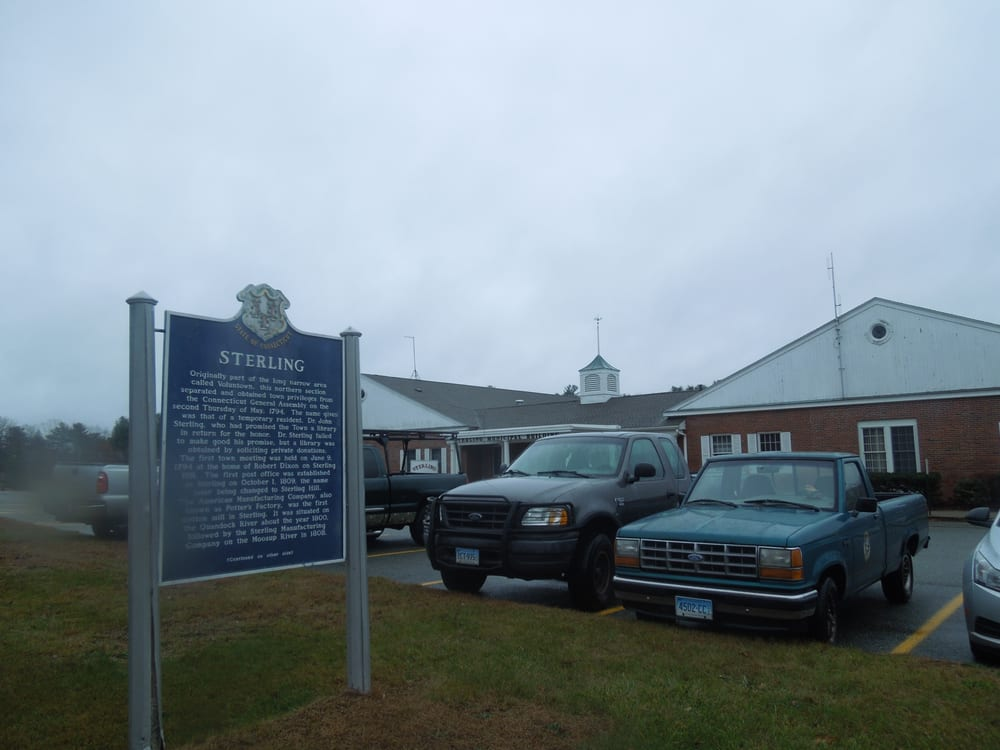 Sterling Historical Marker: 1183 Plainfield Pike, Sterling, CT