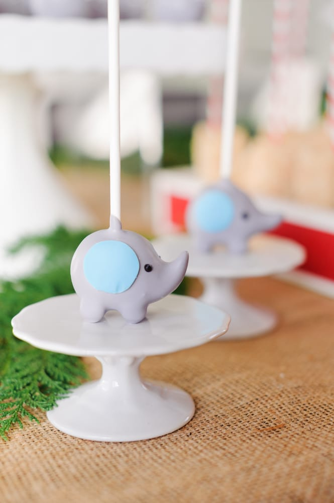 Elephant Baby Shower Cake Pops