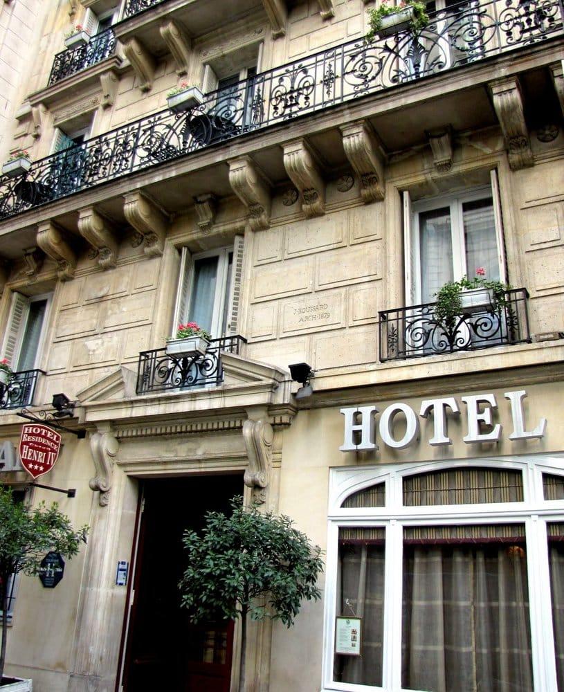 H tel r sidence henri iv h tels 50 rue des bernardins for Hotel france numero