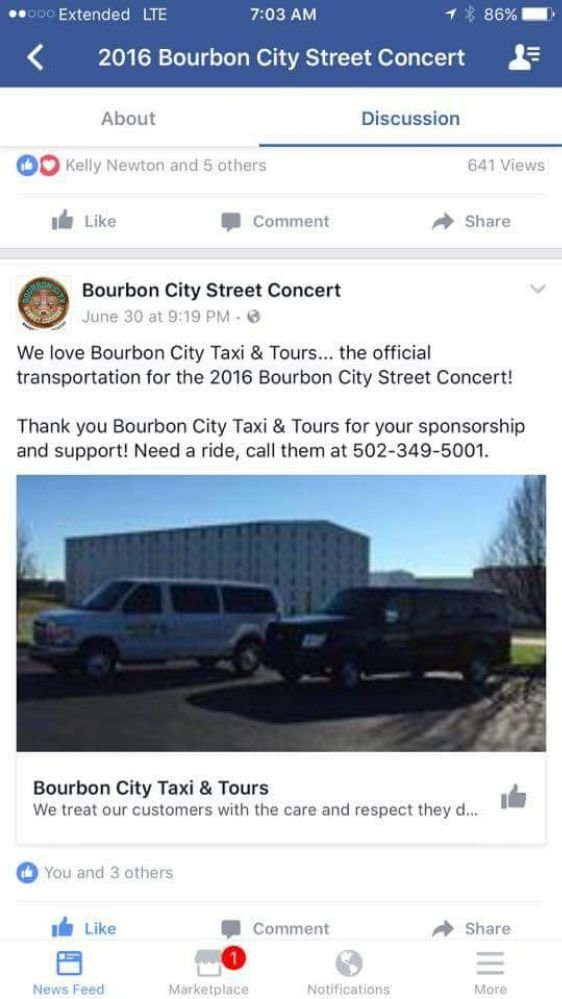 Bourbon City Taxi & Tours: 133 Jones Ave, Bardstown, KY