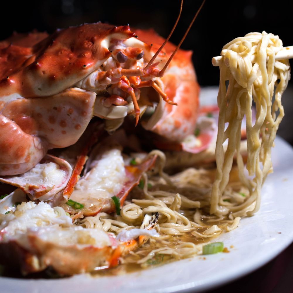 steamed king crab with delicious noodles - yelp