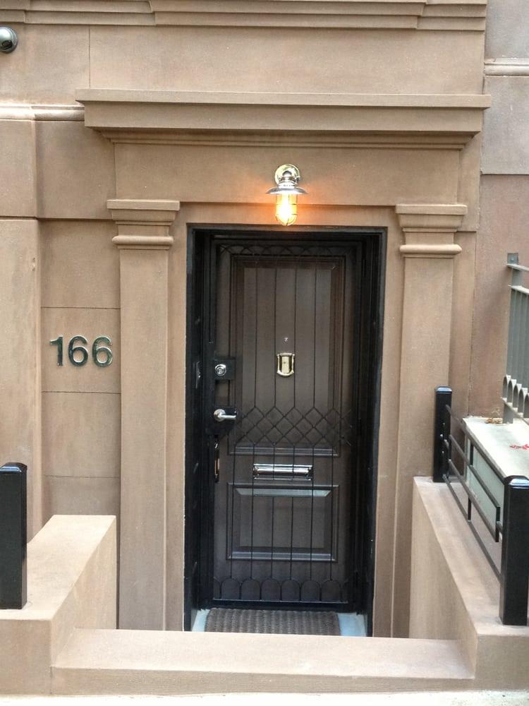 Restored Brownstone Doorway Surroundings Upper East Side